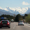 Views of the French Alps en route to Chamonix.