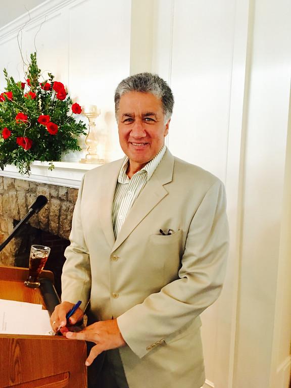 . Master of Ceremonies Steve Panagiotakos of Lowell