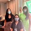 From left, stylist Vanessa Lavin, nurse Ciara O'Shea and owner Olga Kwasniewski