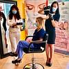 From left, Whole Beauty Salon and Spa owner Olga Kwasniewski, nurse Lauren Thompson and master stylist Vanessa Lavin