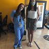 Nurse Ella Fleming and stylist Vanessa Lavin