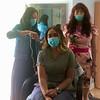 From left, stylist Vanessa Lavin, nurse Nati Varela and owner Olga Kwasniewski