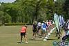 Players on practice range
