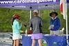 Vicki DiSantis with group on 1st tee
