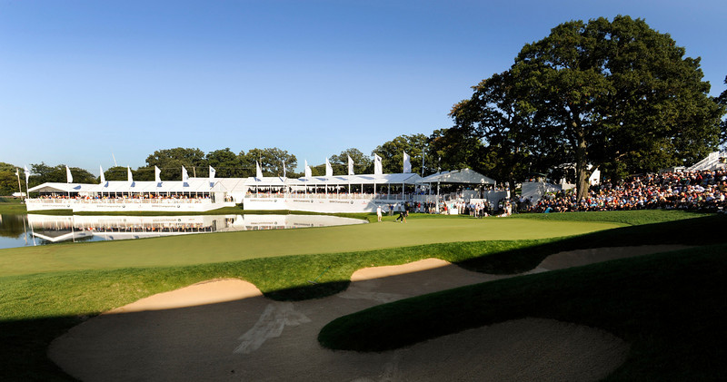 LEMONT, IL - SEPTEMBER 13: A course scenic of the 18th green during the final round of the BMW Championship held at Cog Hill Golf & Country Club on September 13, 2009 in Lemont, Illinois. (Photo by Stan Badz/PGA TOUR)