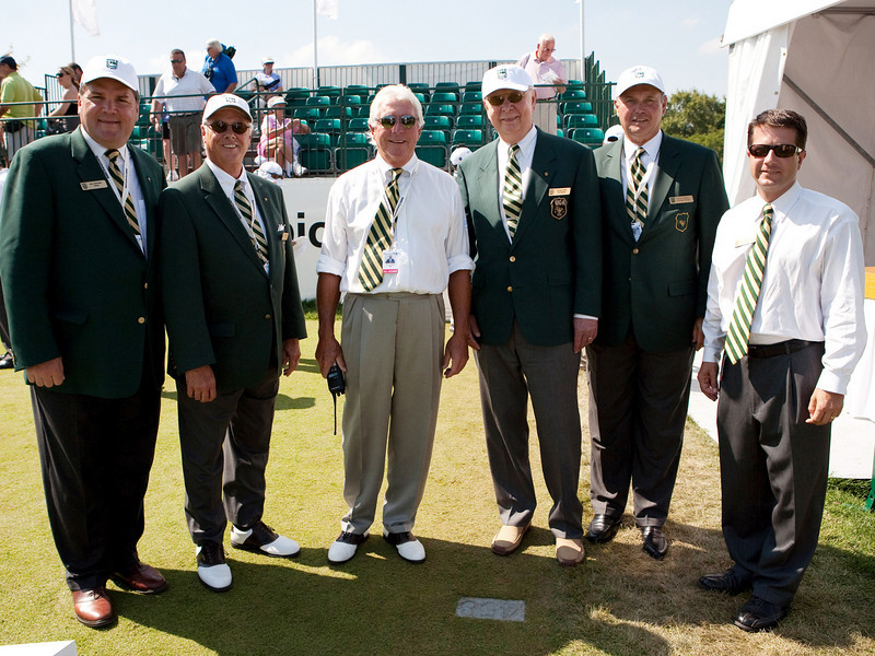 Members of the WGS at the final day of the BMW championship on SundaySeptember 13, 2009 (Photograph by Charles Cherney)
