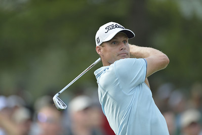 Nick Watney watches a tee shot during the second round of play on Friday, September 7, 2012 at the BMW Championship at Crooked Stick Golf Club in Carmel, IN (Rick Sanchez/WGA).