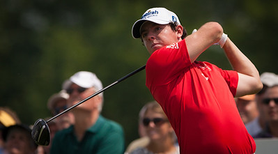 Rory Mcllroy hits his tee ball on 15 during first round action at the BMW Championship at Crooked Stick CC in Carmel Indiana on Thursday Sept. 6, 2012. (Charles Cherney/WGA)