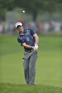 Rory McIlroy lofts a chip onto the putting surface during the second round of play on Friday, September 7, 2012 at the BMW Championship at Crooked Stick Golf Club in Carmel, IN (Rick Sanchez/WGA).