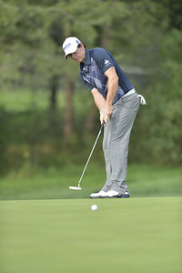 Rory McIlroy rolls a putt toward the hole during the second round of play on Friday, September 7, 2012 at the BMW Championship at Crooked Stick Golf Club in Carmel, IN (Rick Sanchez/WGA).