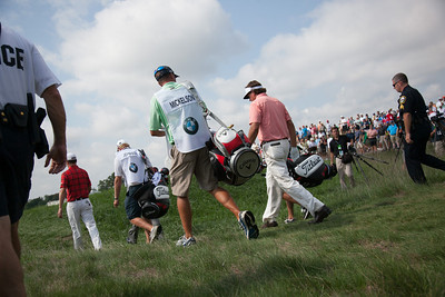 Phil Mickelson down the 10th fairway during first round action at the BMW Championship at Crooked Stick CC in Carmel Indiana on Thursday Sept. 6, 2012. (Charles Cherney/WGA)
