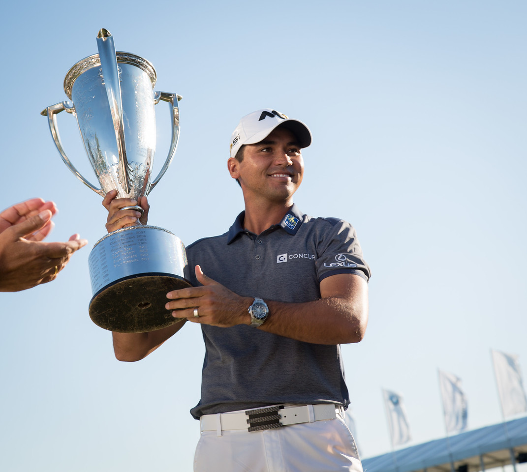Jason Day wins the 2015 BMW FedX Cup at Conway farms in Lake Forest IL on Sunday Sept 20, 2015. @Charles Cherney Photography
