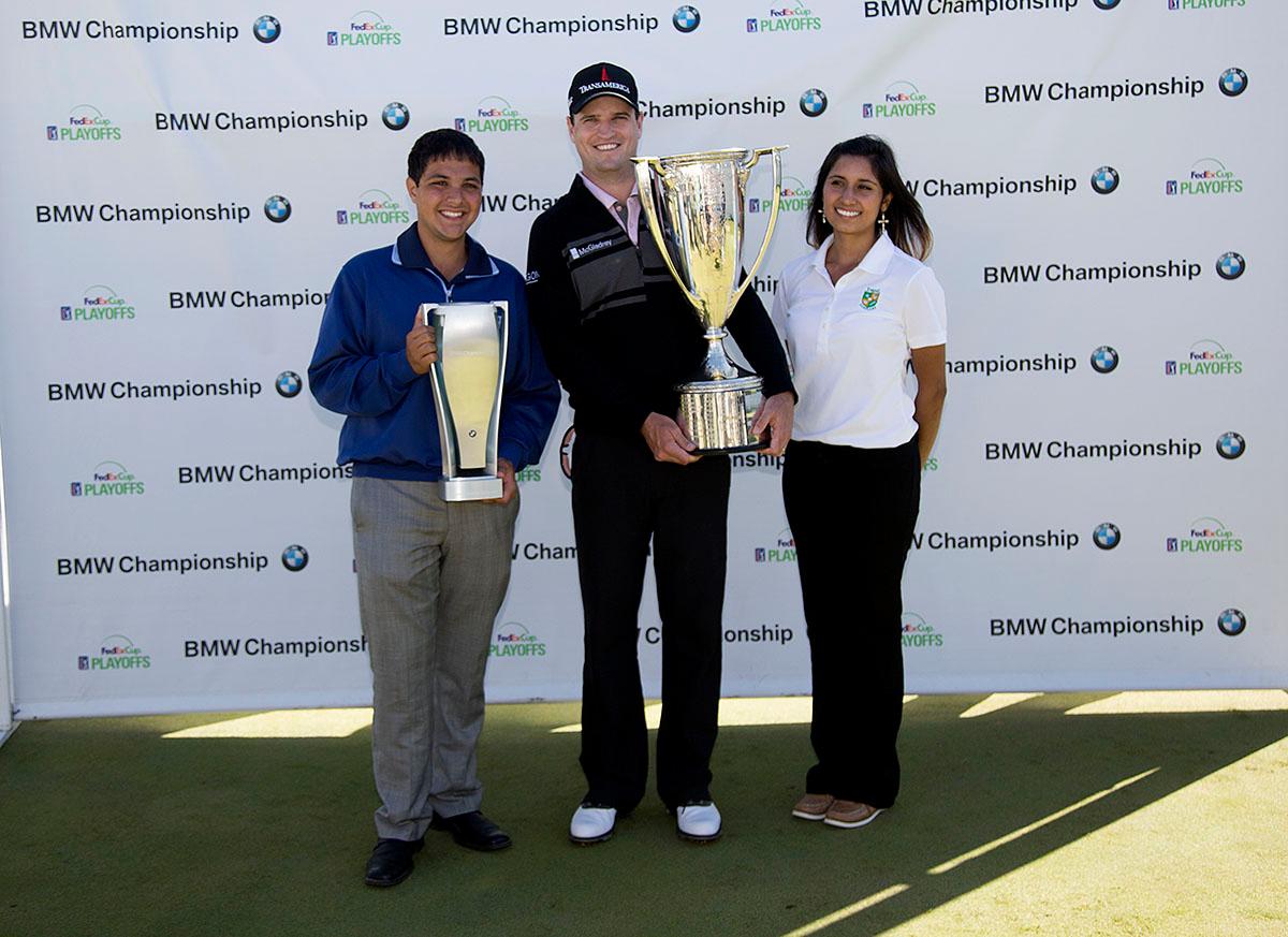 Zach Johnson wins the BMW Championship  on Monday. Sept. 16, 2013. WGA Photo/Charles Cherney
