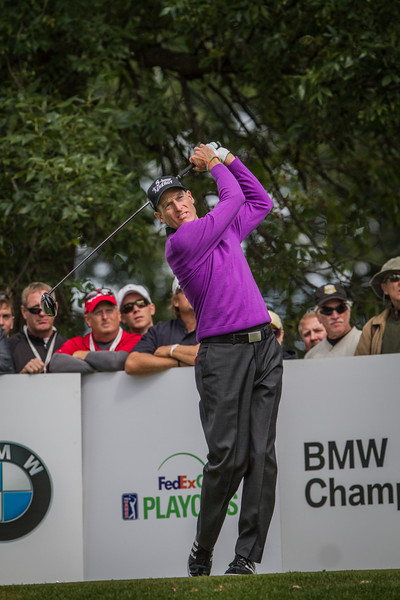 during Monday action at the BMW/Western Open on Monday. Sept. 16, 2013. WGA Photo/Charles Cherney