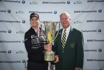Zach Johnson wins the BMW Championship  on Monday. Sept. 16, 2013. WGA Photo/Charles Cherney