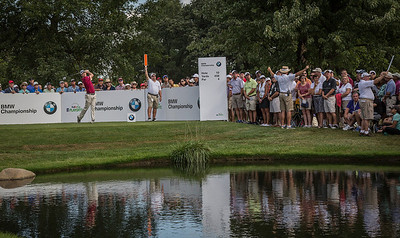during Thursday action at the BMW/Western Open on Thurs. Sept. 12, 2013. WGA Photo/Charles Cherney