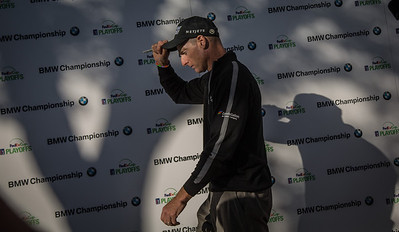 during Friday action at the BMW/Western Open on Friday. Sept. 13, 2013. WGA Photo/Charles Cherney