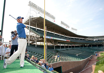 Dustin Johnson at the historic Wrigley Field.