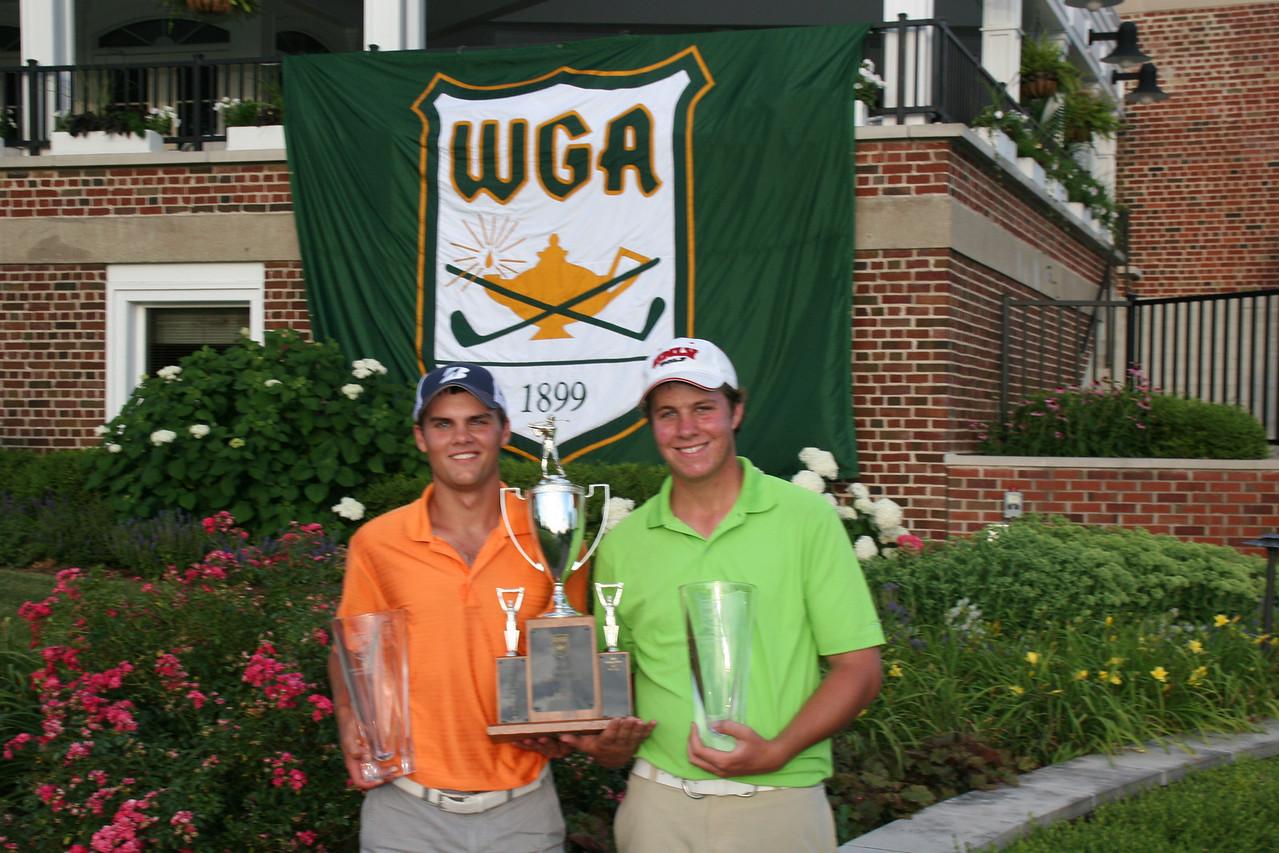 David Flynn and Sean Bustrom, from Evanston Golf Club, won the team event.