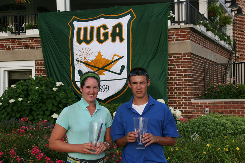 Nora Lucas and Jackson Mihevic, from Westmoreland Country Club, placed second in the team event.