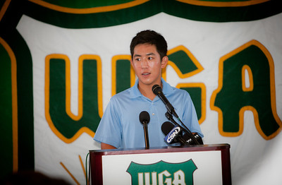 Defending Champion David Chung at the 2011 Western Amateur Media Day.