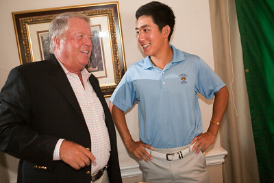 David Chung with Western Amateur Committee Chairman Dr. Philp FitzSimmons from North Shore Country Club.