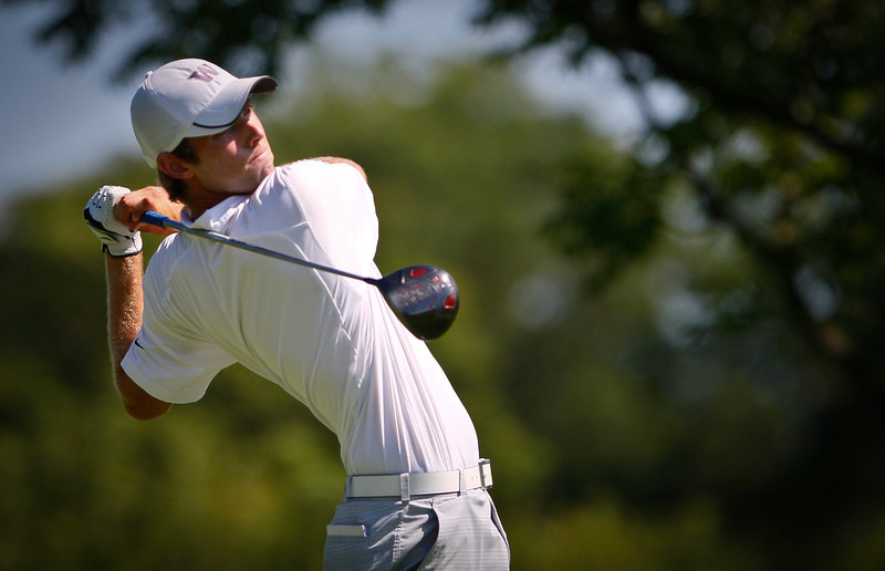 Chris Williams, 20, of Moscow, Idaho, tees off during the 3rd round on Thursday.