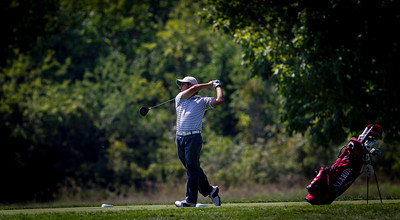 Abraham Ancer hits his tee shot on 11 during the quarterfinals of the match play competition at the 2012 Western Amateur Championship at Exmoor Country Club in Highland Park IL. on Friday, August 3, 2012. (WGA Photo/Charles Cherney)