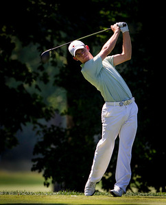 Brandon Stone hits his tee shot on 15 during the quarterfinals of the match play competition at the 2012 Western Amateur Championship at Exmoor Country Club in Highland Park IL. on Friday, August 3, 2012. (WGA Photo/Charles Cherney)