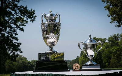 Western Amateur trophy display during the quarterfinals of the match play competition at the 2012 Western Amateur Championship at Exmoor Country Club in Highland Park IL. on Friday, August 3, 2012. (WGA Photo/Charles Cherney)