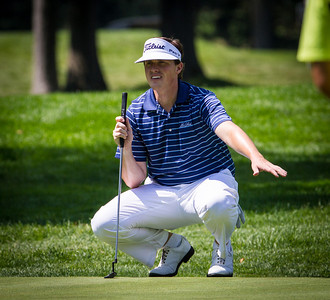 Charles Waddell reads his putt on 16 during second round medal play at the 2012 Western Amateur Championship at Exmoor Country Club in Highland Park IL. on Wednesday, August 1, 2012. (WGA Photo/Charles Cherney)