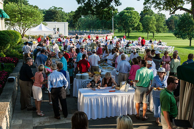 Player/member Barbecue after the end of the first day of competition at the 2012 Western Amateur Championship at Exmoor Country Club in Highland Park IL. on Tuesday, July 31, 2012. (WGA Photo/Charles Cherney)