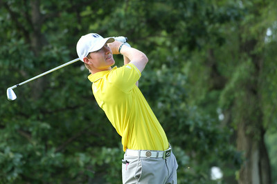 Defending Western Amateur champion Jordan Niebrugge of Mequon, Wisconsin tees off during the first round of the 2014 Western Amateur.