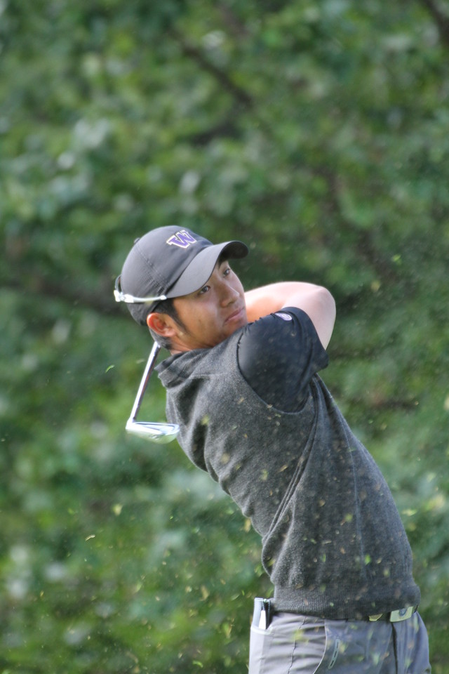 All-Pac-12 selection Cheng-Tsung Pan tees off during the first round of the 2014 Western Amateur.