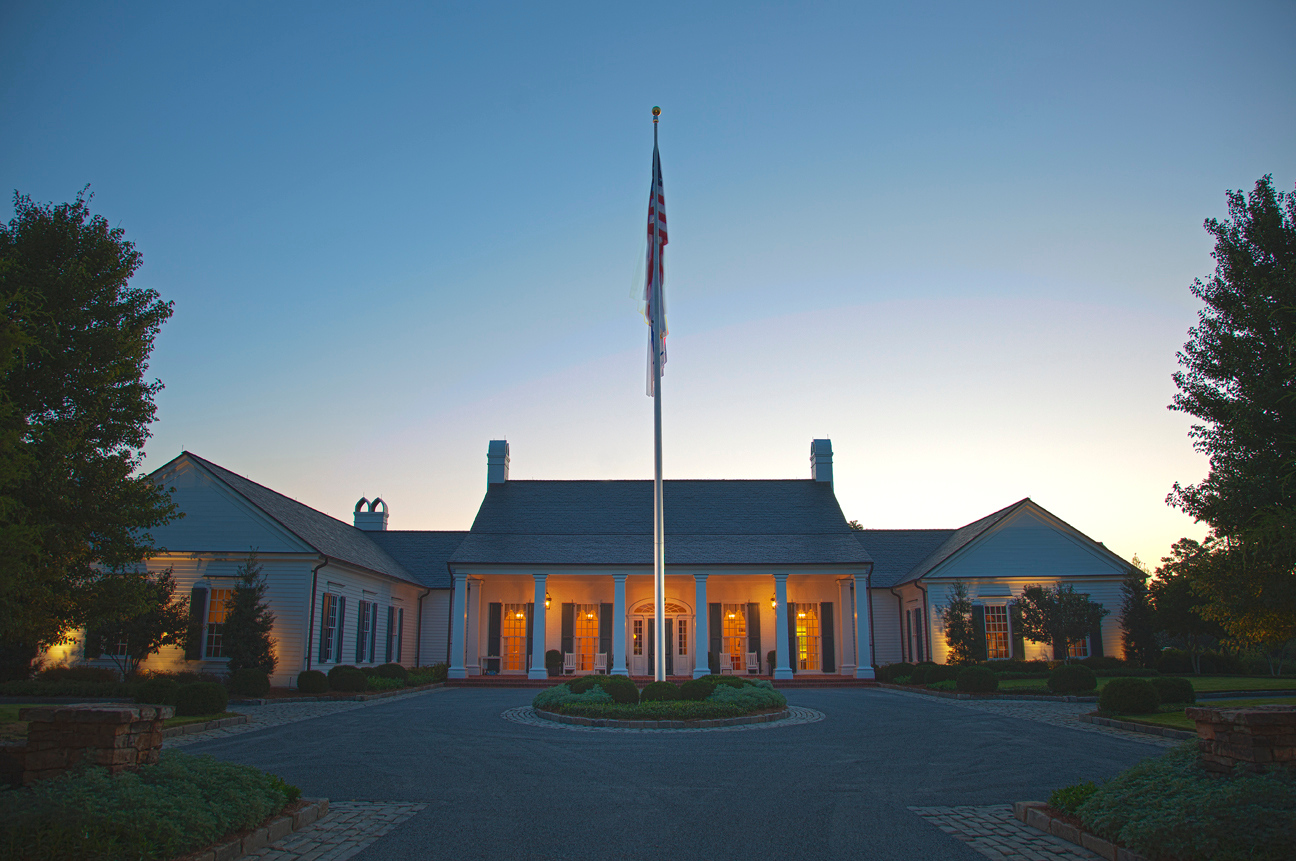 The Alotian Club clubhouse at dawn.