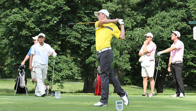 Colin Proctor, Anderson, Ind., tees off in the first round. He tied for 22nd in the tournament.