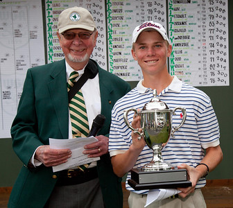 Connor Black, Katy, Texas, wins the  94th Western Junior at The Beverly Country Club in Chicago, Ill., on Friday, June 24, 2011. (Photograph by Charles Cherney/WGA)