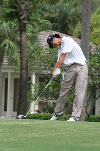 Zecheng Dou, of Davenport, Fla., also played in the final group and makes solid contact with his new Taylormade RBZ driver.