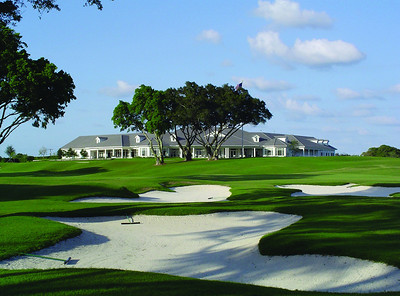 The Country Club of Florida clubhouse is framed by the club's well-manicured course. The club is host to the 2012 Western Junior championship June 18-22.