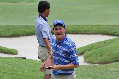 Adam Wood was all smiles knowing he was the winner of the 95th Western Junior championship.