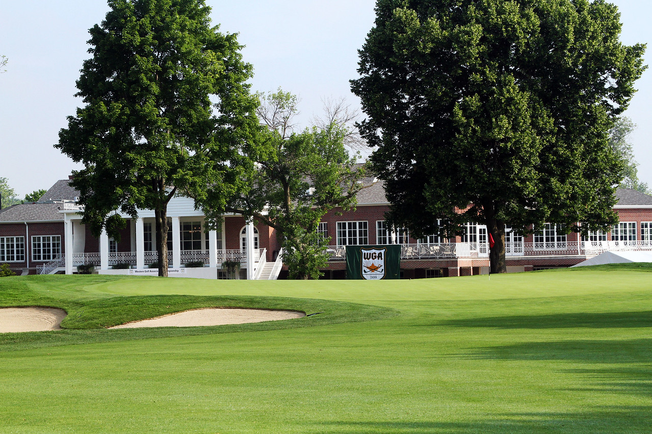 This is what the players will see as they approach the 18th green at Meridian Hills Country Club. (WGA Photo/Ian Yelton)