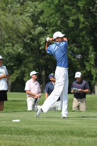 Daniel Wetterich tees off no. 10 during the first round of the 2014 Western Junior Championship.