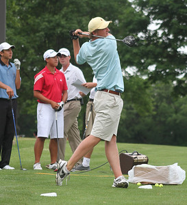 Lee Detmer of Washington, D.C., winner of the Long Drive Contest.