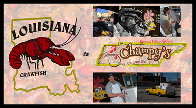 Post Card - Crawfish 2014 Crawfish and Blues Music at Champy's in Chattanooga, Tn. Photography by: Lloyd Kenney III © 2014 All Rights Reserved. Contact info: LloydKenneyiii@gmail.com