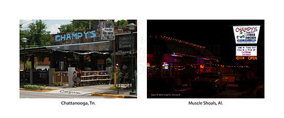 Champy's Famous Fried Chicken  Chattanooga, Tennessee (Left) Muscle Shoals, Alabama (Right)  Photography By: Lloyd R. Kenney III © 2013 All Rights Reserved Email: LloydKenneyiii@gmail.com