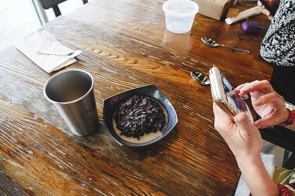 Black Sticky Rice, Taro in Coconut Syrup
