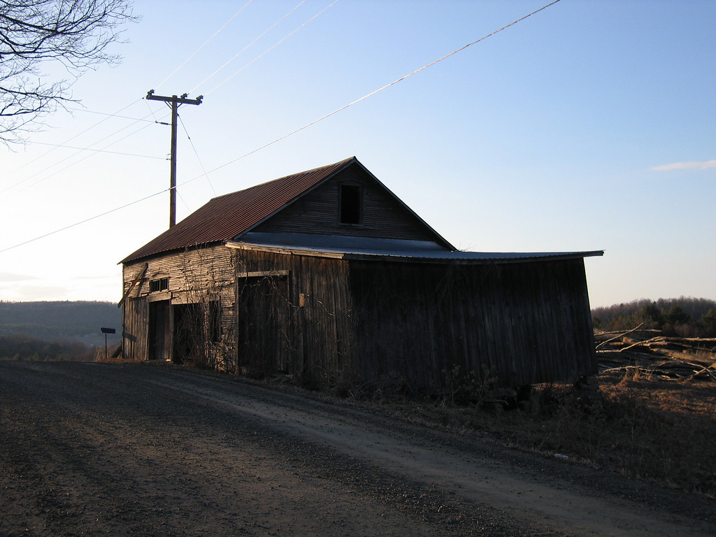 33 Tractor Shed at Dusk