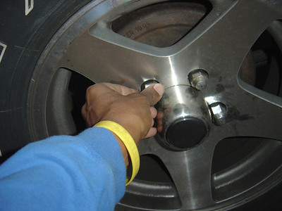 Remove lug nuts