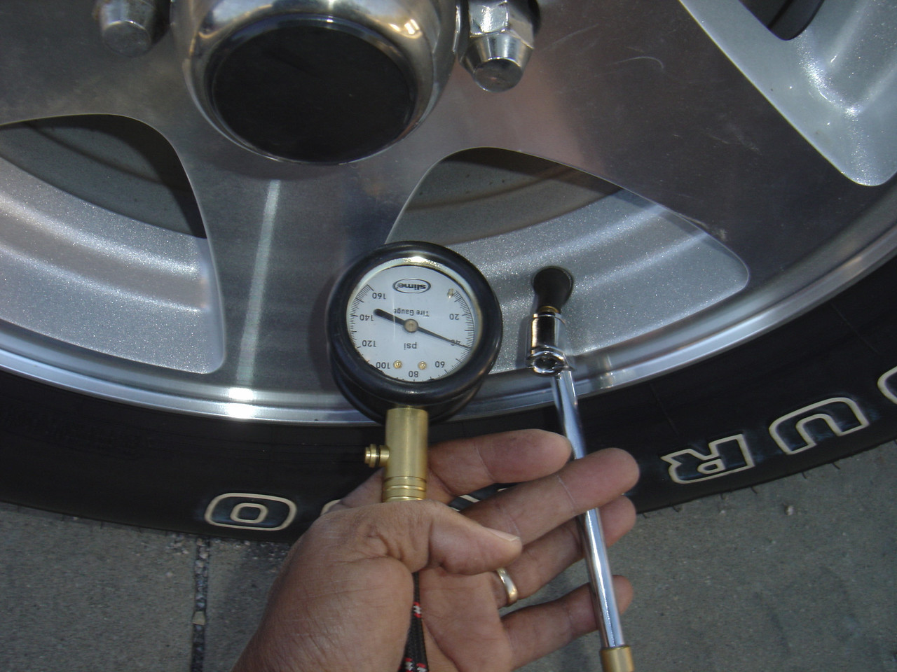 Check spare tire pressure and inflate in needed