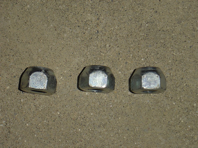 if the lug nuts have a beveled edge, they need to screwed on with the beveled edge first.